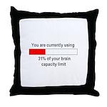 BRAIN CAPACITY LIMIT Throw Pillow