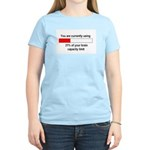 BRAIN CAPACITY LIMIT Women's Light T-Shirt