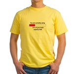 BRAIN CAPACITY LIMIT Yellow T-Shirt
