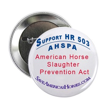 """Save Americas Horses 2.25"""" Button (100 pack)"""