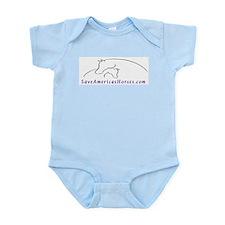 Save America's Horses Infant Creeper Pink, Blue