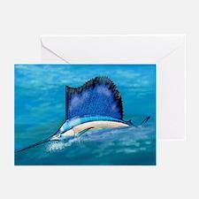 Cute Blue marlin Greeting Cards (Pk of 10)