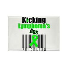 Kicking Lymphoma's Ass Rectangle Magnet