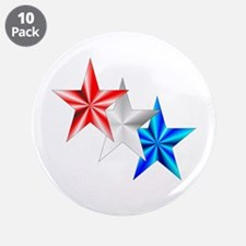 "Stars 3.5"" Button (10 pack)"