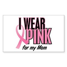 I Wear Pink For My Mom 10 Rectangle Sticker 10 pk