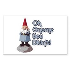 Gnome you didn't Rectangle Decal