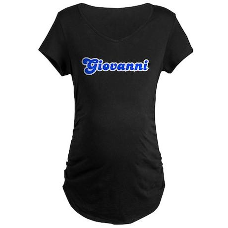 Retro Giovanni (Blue) Maternity Dark T-Shirt