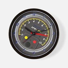 Dark grey Tachometer Wall Clock