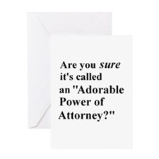 Power of Attorney Greeting Card