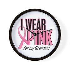 I Wear Pink For My Grandma 10 Wall Clock