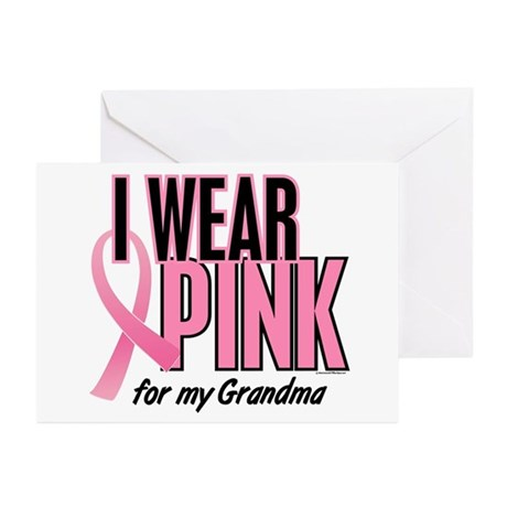 I Wear Pink For My Grandma 10 Greeting Cards (Pk o