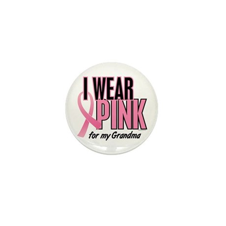 I Wear Pink For My Grandma 10 Mini Button (100 pac