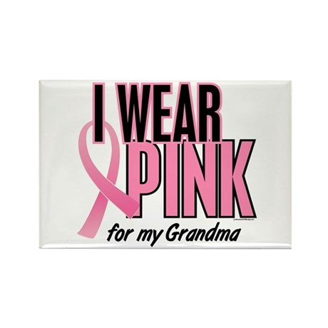 I Wear Pink For My Grandma 10 Rectangle Magnet (10