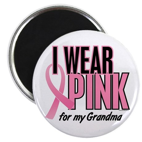 "I Wear Pink For My Grandma 10 2.25"" Magnet (100 pa"