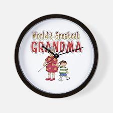 World's Greatest Grandma Wall Clock
