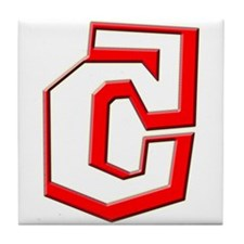 Funky Red C Tile Coaster