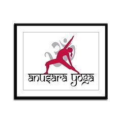 Lyengar Yoga Framed Panel Print