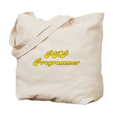 Retro PHP Program.. (Gold) Tote Bag