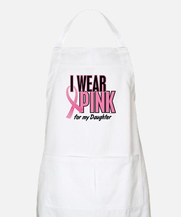 I Wear Pink For My Daughter 10 BBQ Apron