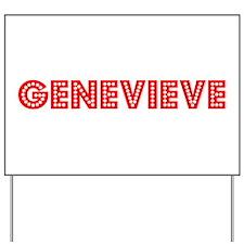 Retro Genevieve (Red) Yard Sign