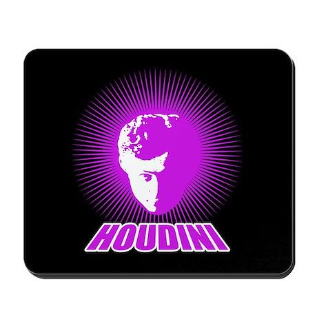 Houdini Face Mouse Pad, Purple on Black