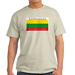 Lithuania Lithuanian Flag Ash Grey T-Shirt