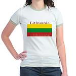 Lithuania Lithuanian Flag Jr. Ringer T-Shirt