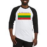 Lithuania Lithuanian Flag Baseball Jersey