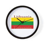Lithuania Lithuanian Flag Wall Clock