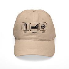 Eat Sleep Sail 2 Baseball Cap