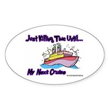Cruise Lover Boat Oval Decal