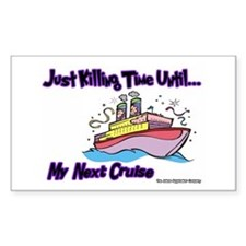 Cruise Lover Boat Rectangle Decal