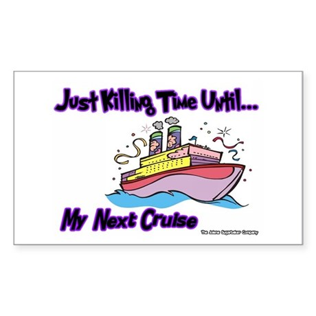 Cruise Lover Boat Rectangle Sticker