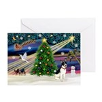 XmasMagic/Rat Terrier Greeting Card