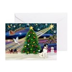 XmasMagic/Rat Terrier Greeting Cards (Pk of 10)
