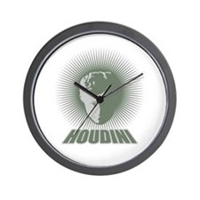 Houdini Face Wall Clock, Green, No Numbers