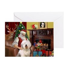 Santa's Old English #6 Greeting Card