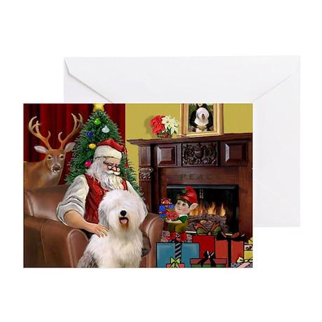 Santa's Old English #6 Greeting Cards (Pk of 20)