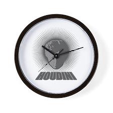 Houdini Face Wall Clock, Dark Gray, No Numbers