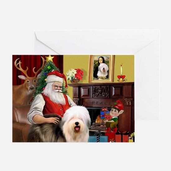 Santa's Old English #5 Greeting Card