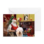 Santa's Old English #5 Greeting Cards (Pk of 20)