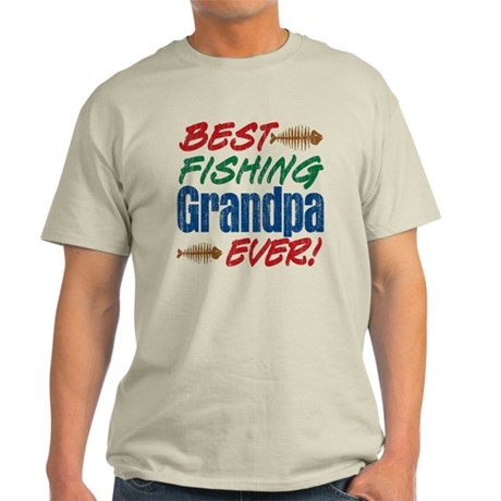 Best fishing grandpa ever light t shirt best fishing for Best fishing shirts