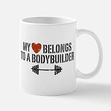 My Heart Belongs to a Bodybuilder Mug