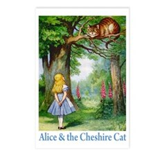 Alice & the Cheshire Cat Postcards (Package of 8)