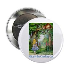 """Alice & the Cheshire Cat 2.25"""" Button (10 pack)"""