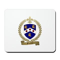 BAUDOIN Family Crest Mousepad