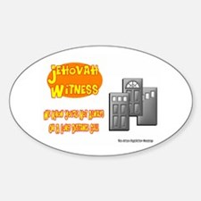 Jehovah Witness Pro Oval Decal