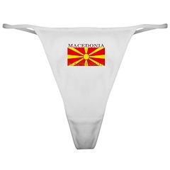 Macedonia Macedonian Flag Classic Thong