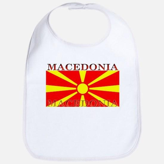 Macedonia Macedonian Flag Bib