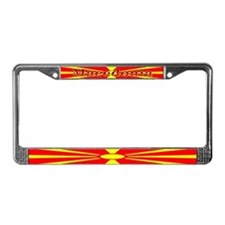 Macedonia Macedonian Flag License Plate Frame